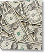 American One Dollar Bills Metal Print