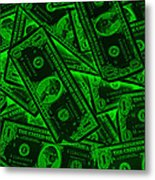 American One Dollar Bills Pop Art Metal Print