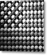 American Pastime In Black And White Metal Print