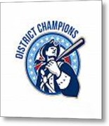 American Patriot Baseball District Champions Metal Print by Aloysius Patrimonio