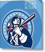 American Patriot Pro Baseball Classic Poster Retro Metal Print