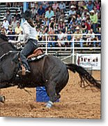 American Rodeo Female Barrel Racer Dark Horse II Metal Print