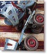American Roller Skates Metal Print