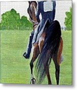 American Saddlebred Down The Road Metal Print