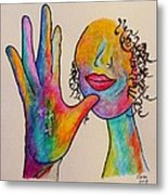 American Sign Language . . .  Mother Metal Print