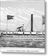 American Steamboat, 1827 Metal Print