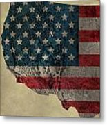 American West Topography Map Metal Print