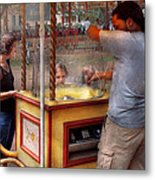 Americana - Candy - Getting Cotton Candy  Metal Print by Mike Savad