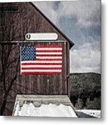 Americana Patriotic Barn Metal Print by Edward Fielding