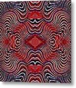 Americana Swirl Banner 2 Metal Print