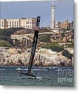 Americas Cup Oracle Team And Alcatraz Metal Print