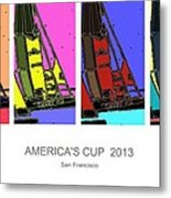 America's Cup Poster 3 Metal Print