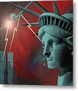 Americas Deepest  Wound  - 100 Metal Print