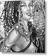 Amerikan Woman Metal Print