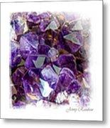 Amethyst Crystals 1. Elegant Knickknacks Metal Print