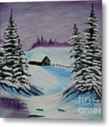 Amethyst Evening After Ross Metal Print by Barbara Griffin