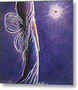 Amethyst Fairy By Shawna Erback Metal Print by Shawna Erback