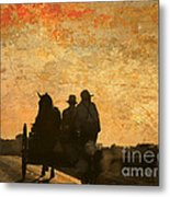 Amish After A Hard Days Work Metal Print