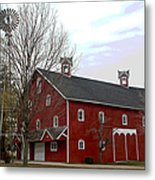 Amish Barn and Wind Mill - Allen County Indiana Metal Print