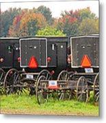Amish Buggies 2 Metal Print