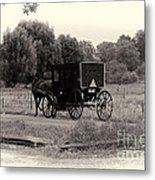 Amish Buggy Sept 2013 Metal Print