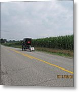Amish Buggy With Small Back Cab Metal Print