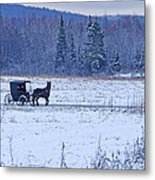 Amish Carriage Metal Print