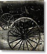 Amish Cart Wheels Grunge Metal Print
