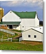 Amish Country Barn Metal Print by Frozen in Time Fine Art Photography