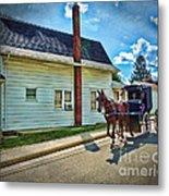 Amish Country Ride Metal Print