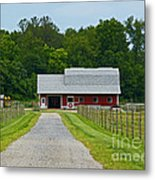 Amish Farm Metal Print