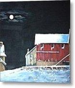 Amish Farm Metal Print