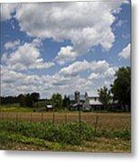 Amish Farm Landscape Metal Print