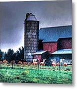 Amish Farming 2 Metal Print
