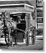 Amish Gas Metal Print