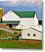 Amish Living Metal Print