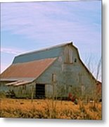 Amish Metal Barn Metal Print