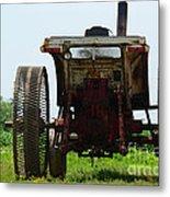 Amish Tractor Metal Print