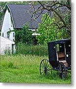 Amish Way Of Life Metal Print