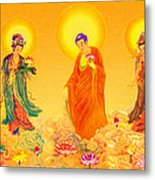 Amitabha And Two Bodhisattvas Metal Print