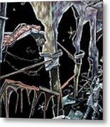 Amore - Dark Fantasy Drawings And Illustration - Dibujo Surrealista  Metal Print