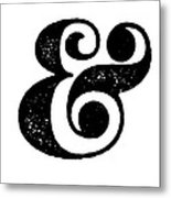 Ampersand Poster White Metal Print