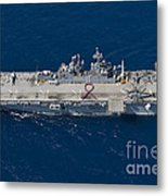Amphibious Assault Ship Uss Bonhomme Metal Print