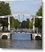 Amsterdam - Drawing Bridge Metal Print