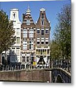 Amsterdam - Old Houses At The Keizersgracht Metal Print