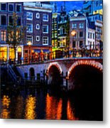 Amsterdam At Night II Metal Print
