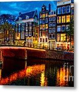 Amsterdam At Night Iv Metal Print