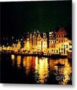 Amsterdam At Night Three Metal Print by John Malone