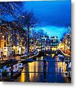 Amsterdam At Night V Metal Print