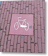 Amsterdam Bicycle Lane Metal Print
